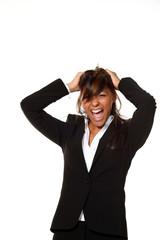 donna in piena crisi di nervi
