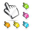 icône main, curseur de souris