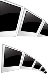 the vector polaroid blank photos