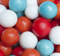 Colorful candy, close-up
