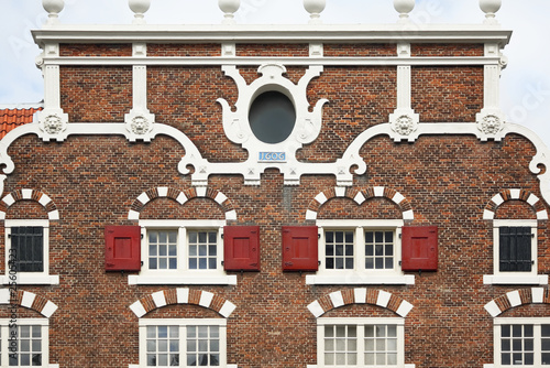 Vintage Dutch building facade detail