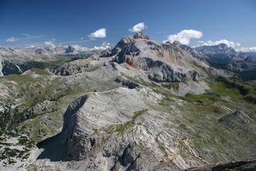 View from Croda del Beco, Alta Via 1, the Dolomites, Italy