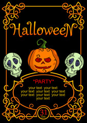 Halljween party invitation