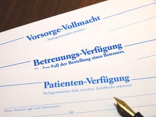 Patienten Betreuungs Verfügung
