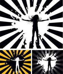 the vector retro grunge background