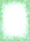 greenery abstract frame pattern poster