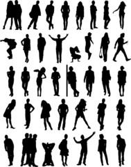 silhouettes d'hommes et de femmes