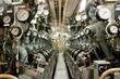 Leinwanddruck Bild - Submarie diesel engine