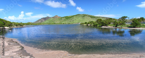 Beautiful lagoon on Saint Kitts