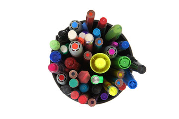 Pens in a jar