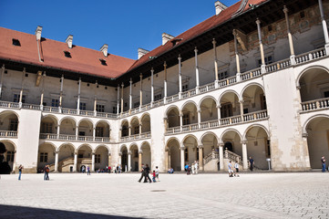 wawel castle in Cracow , Poland