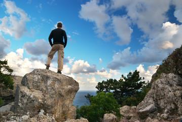 Man on top
