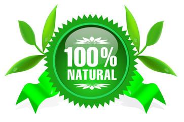 Natural eco sticker