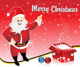 abstract christmas background with santa