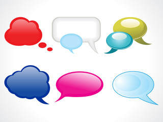 abstract glossy web chat balloons