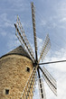 Restored traditional windmill in Sineu