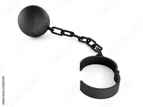Chain and iron ball