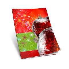 Ilustracion en 3d Libros con motivos navideños