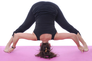 Yoga, Prasarita Paddotonasana - Wide Angle Forward bend pose