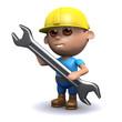 Builder holds spanner