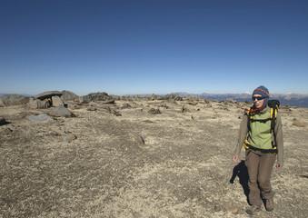 walking in a deserted area (volcàn batea mahuida - argentina)