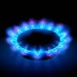 flames of a burning natural gas