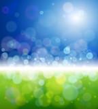 Fototapety bright sun, clear skies, green grass