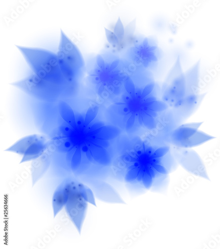 blue amaryllis flowers - vector illustration