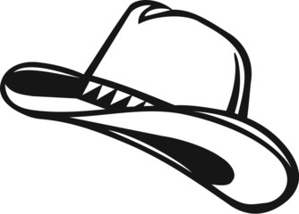Cowboy Hat Vinyl Ready Vector Illustration