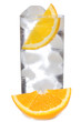 cocktail with gin and orange with ice