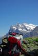 Rast mit Aussicht auf Eiger-Nordwand 2