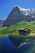 Eiger-Nordwand Spiegelung im See