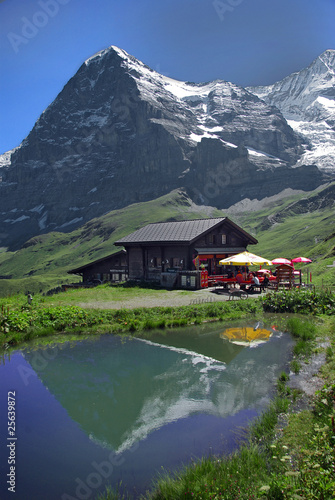 Eiger-Nordwand Spiegelung im See 2