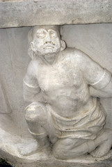 Statue detail, Forchtenstein, Burgenland, Austria