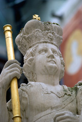 Count Eszterházy statue, Forchtenstein, Burgenland, Austria