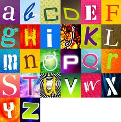 alphabet multicolore 2