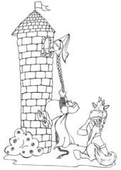 Rapunzel, Märchen, unfähig, Missgeschick, Prinz