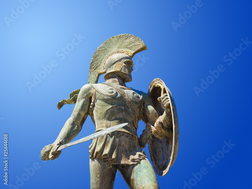 Poster Statue of king Leonidas in Sparta, Greece