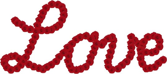 """""""Love"""" mit Rosen"""
