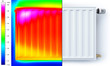 Radiator thermal imaging half