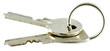 trousseau clés d'appartement, fond blanc