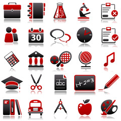 school Red Icons