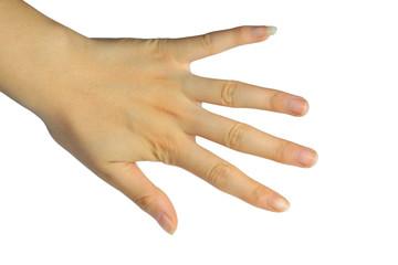 female finger