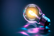 Leinwanddruck Bild - Ampoule concept idée