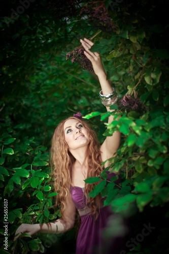 girl collecting berries
