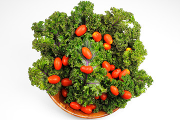 Red Kale, Cherry Tomatoes