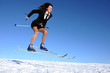 businesswoman on ski