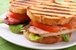 Bacon, lettuce and tomato BLT sandwiches - 25656654