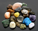Collection of semi-precious gemstones poster