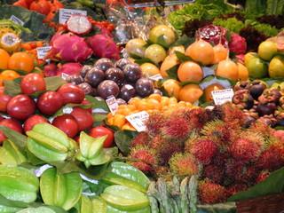 Marktstand Obst